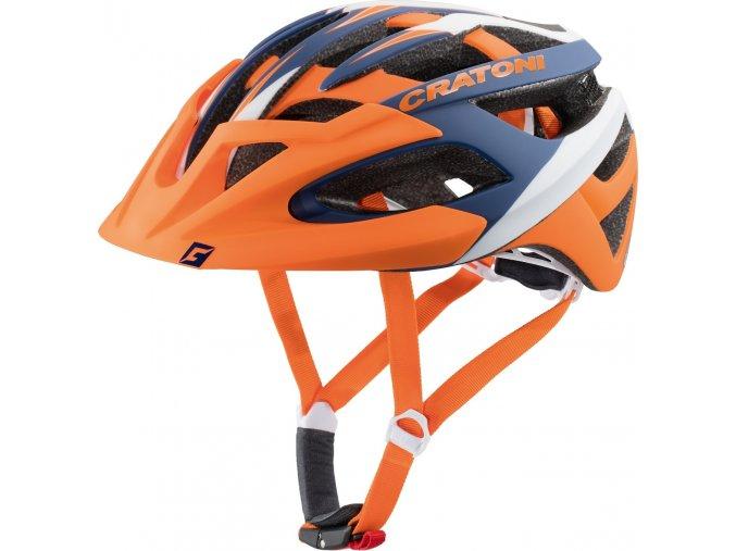 Cratoni C-Hawk orange-blue-white rubber (Varianta L-XL 59-62 cm)