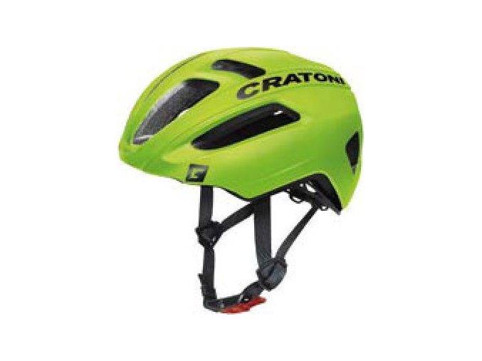 Cratoni C-Pro lime-black-rubber (velikost/barva M-L 57-61cm - lime/černá guma)