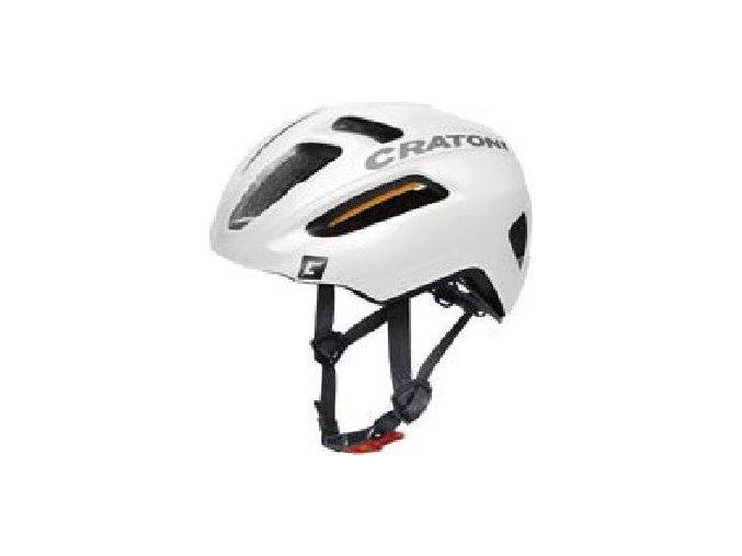 Cratoni C-Pro white-black rubber (velikost/barva M-L 57-61cm - bílá/černá guma)