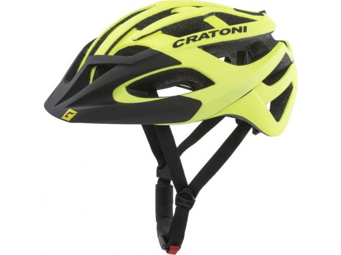 Cratoni C-Hawk neonyellow-black rubber