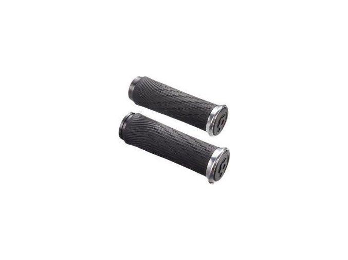 Locking gripy pro XX1 Grip Shift 100mm a 122mm se stříbrnými objímkami a koncovkou řidítek