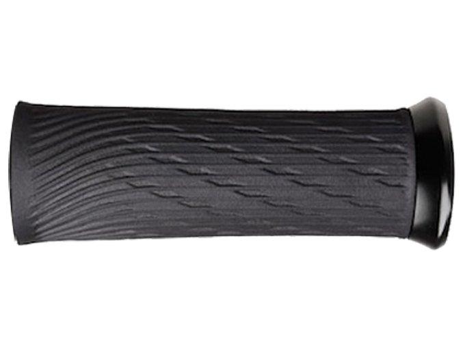 Locking gripy pro XX1 Grip Shift 100mm a 122mm s černými objímkami a koncovkou řidítek