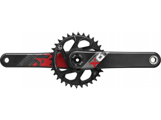 Kliky SRAM X01 Eagle Boost 148 DUB 12s 175 s Direct Mount 32z X-SYNC 2 Chainring Red (osa