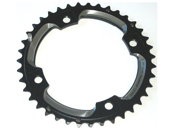 Chain Ring MTB 39T S2 120 AL6 Blast Black L-Pin GXP CNC 2x10