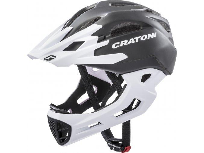Cratoni C-MANIAC   black-white matt