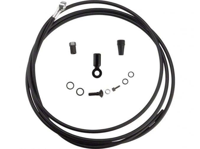 Disc Brake Hydraulic Hose Kit SRAM Road černá 2000mm (v balení caliper banjo & fittings) -