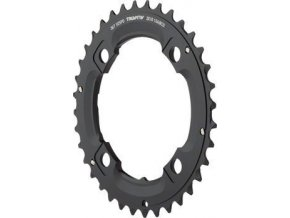 Chain Ring MTB 36T S1 104bcd 49 chainline AL5 Blast Black 2x10 No Pin (36/22)