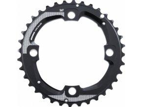 Chain Ring MTB 36T 104 AL5 Blast Black 2x11 Medium Pin