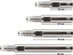 "Valve extension for presta valve aluminium 60 mm, 2pcs """