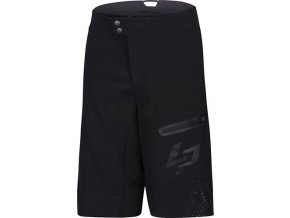 MEN BLACK SHORT WITH UNDERSHORT