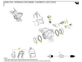 Caliper Piston Kit 2-21mm Aluminum caliper pistons, seals - Level Ultimate, TLM, eTap HRD