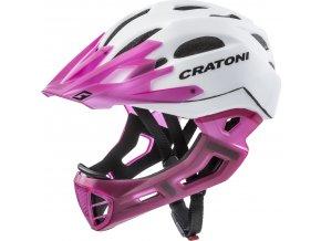 Cratoni C-MANIAC | white-lucentpink matt