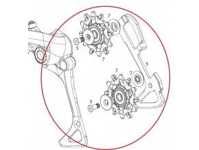 Kit vodítka a kladky pro přehazovačku SRAM EX1, 8mi rychlostní
