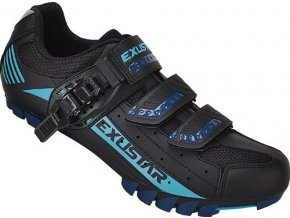 Tretry MTB Exustar SM308DB Black/Blue