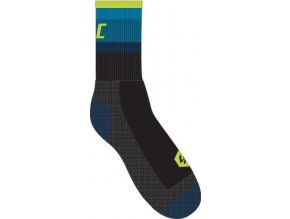 Men's Petrole Lime Road Socks