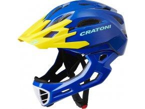 Cratoni C-MANIAC - blue-yellow glossy