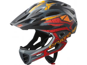 Cratoni C-MANIAC Pro - black-red-orange matt
