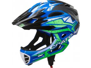 Cratoni C-MANIAC Pro - black-blue-lime glossy