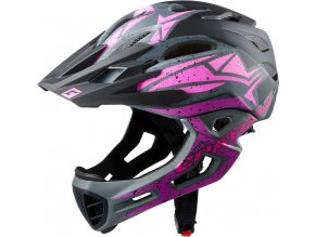 Cratoni C-MANIAC Pro - black-pink-purple matt