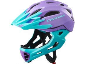 Cratoni C-MANIAC - purple-turquoise matt