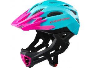 Cratoni C-MANIAC - turquoise-pink matt