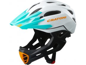 Cratoni C-MANIAC - white-black matt