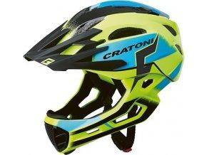 Cratoni C-MANIAC Pro - yellow-blue glossy
