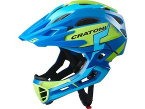 Cratoni C-MANIAC Pro - blue-lime matt
