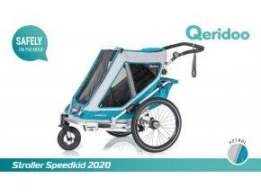 QERIDOO Speedkid1 - Petrol Blue
