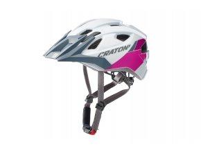 Cratoni ALLRIDE - white-pink glossy