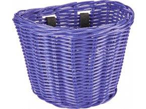 Košík přední ratanový malý se sponkami - Iris Purple