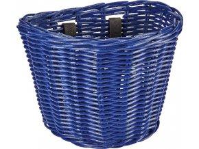 Košík přední ratanový malý se sponkami - Reflex Blue