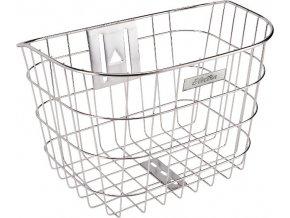 Košík přední drátěný nerez - Silver