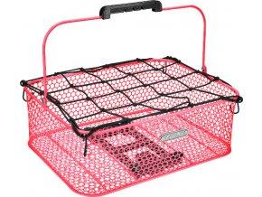 Košík nízký Honeycomb MIK se síťkou - Hot Pink