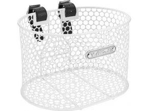 Košík přední Honeycomb s popruhy - White