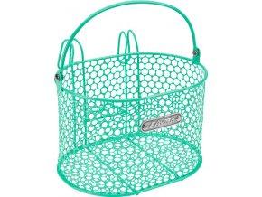 Košík přední s háčky Honeycomb - Mint Green