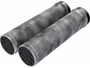 Gripy Truvativ Descendant mramorové světle šedé/černé Single Locking 133