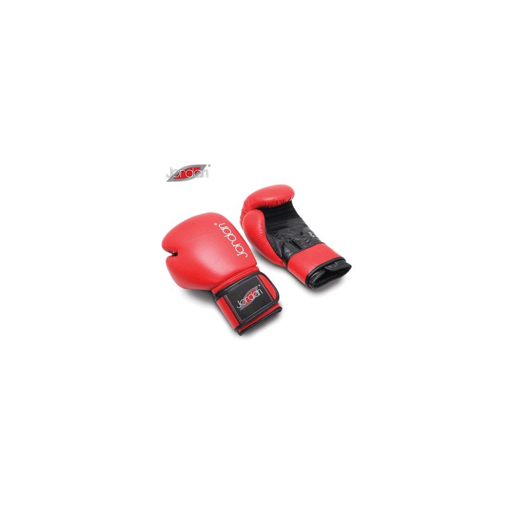 JORDAN FITNESS boxovací rukavice tréninkové - kožené (8) červené