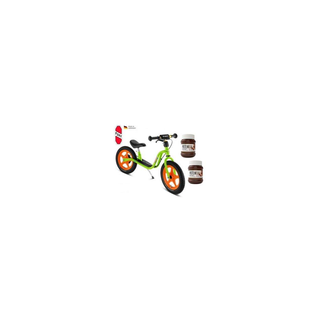 Odrážedlo PUKY Learner Bike Standard LR 1L kiwi / orange + 2x proteinella