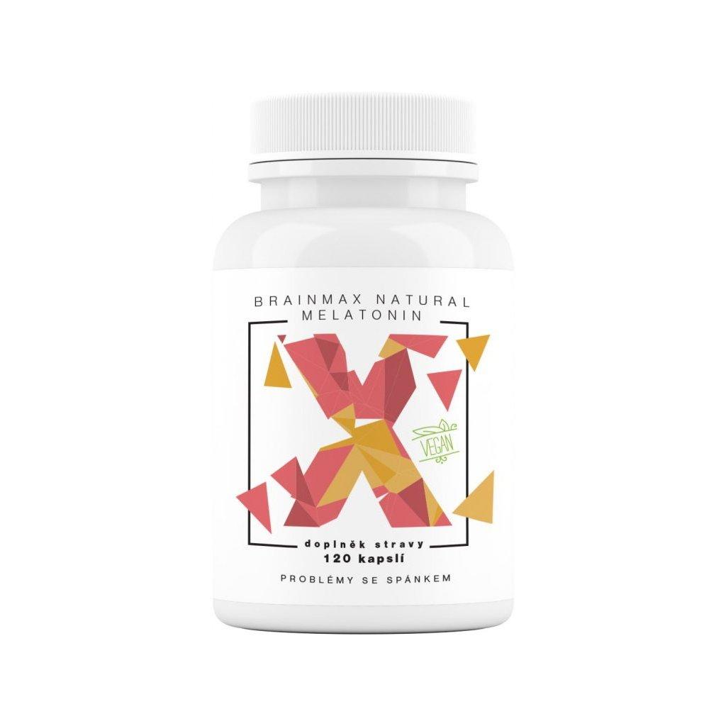 BrainMax Natural Melatonin 120kapslí