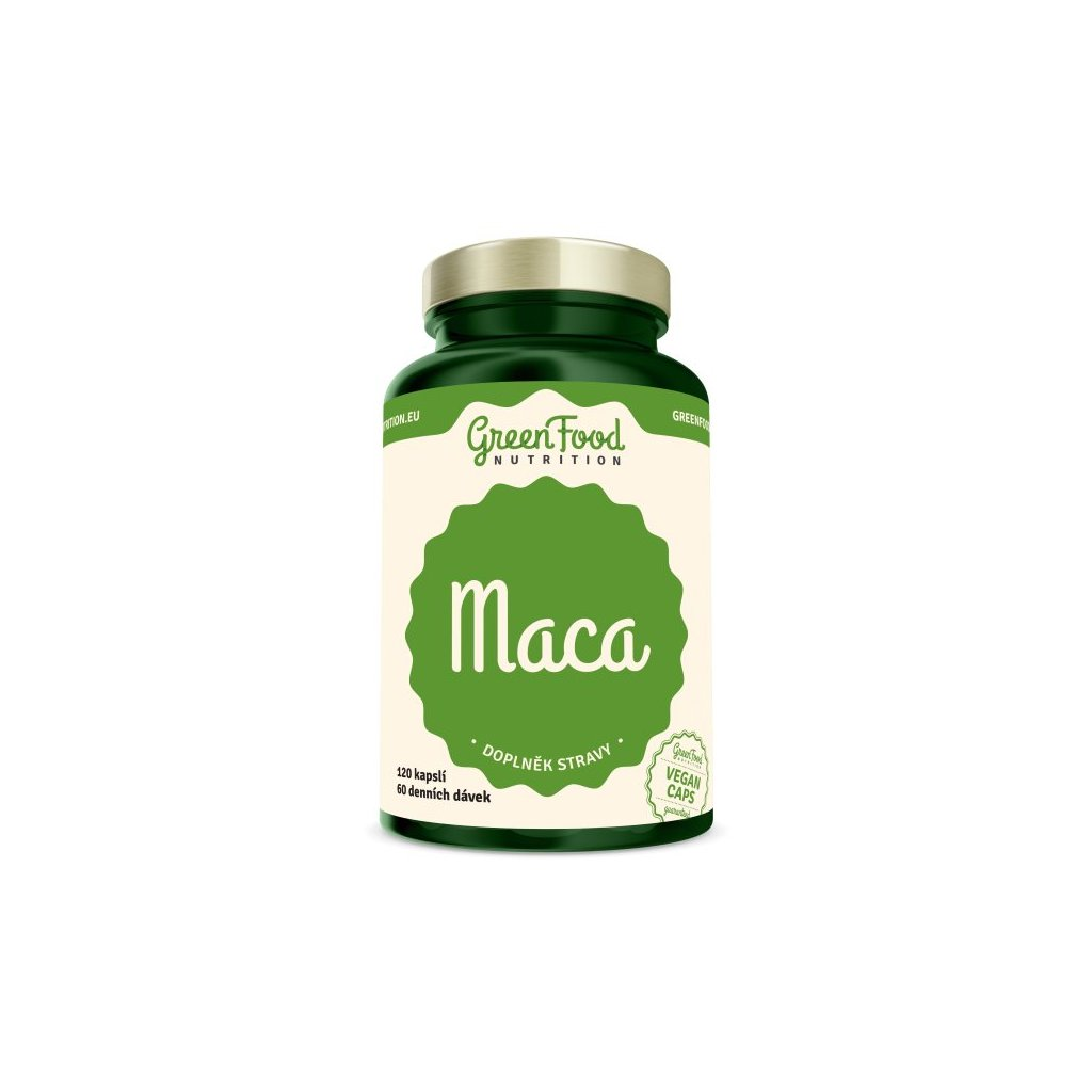 GreenFood Maca 120 kapslí