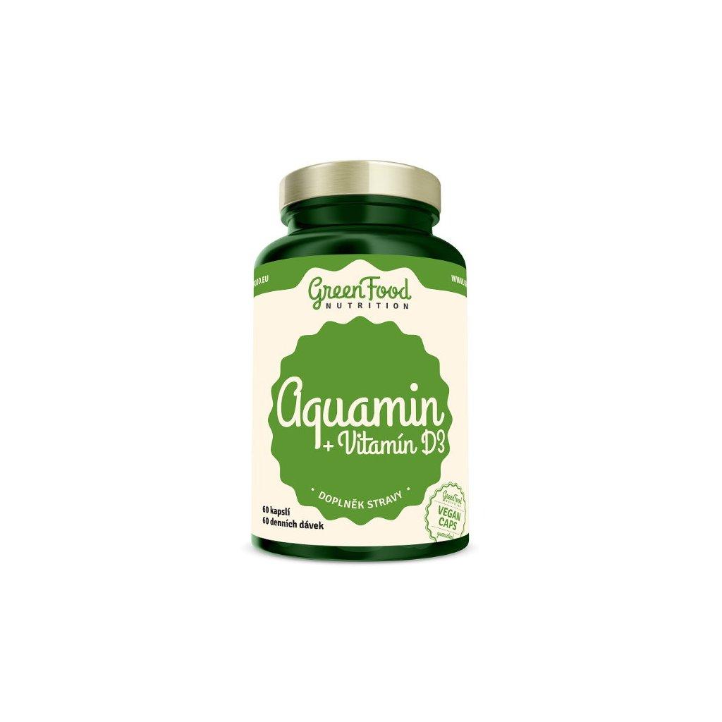 GreenFood Aquamin + Vitamín D3 60kapslí