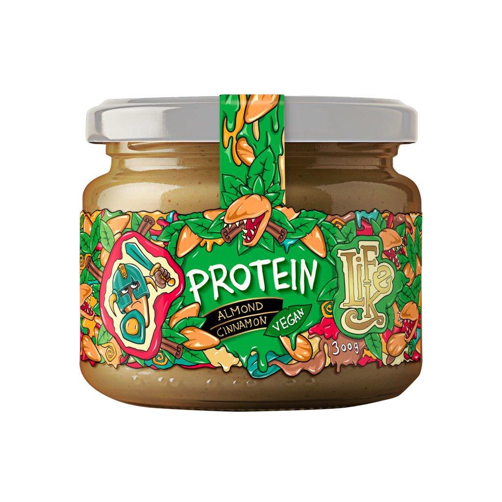 LifeLike Mandlový krém se skořicí a proteinem 300g