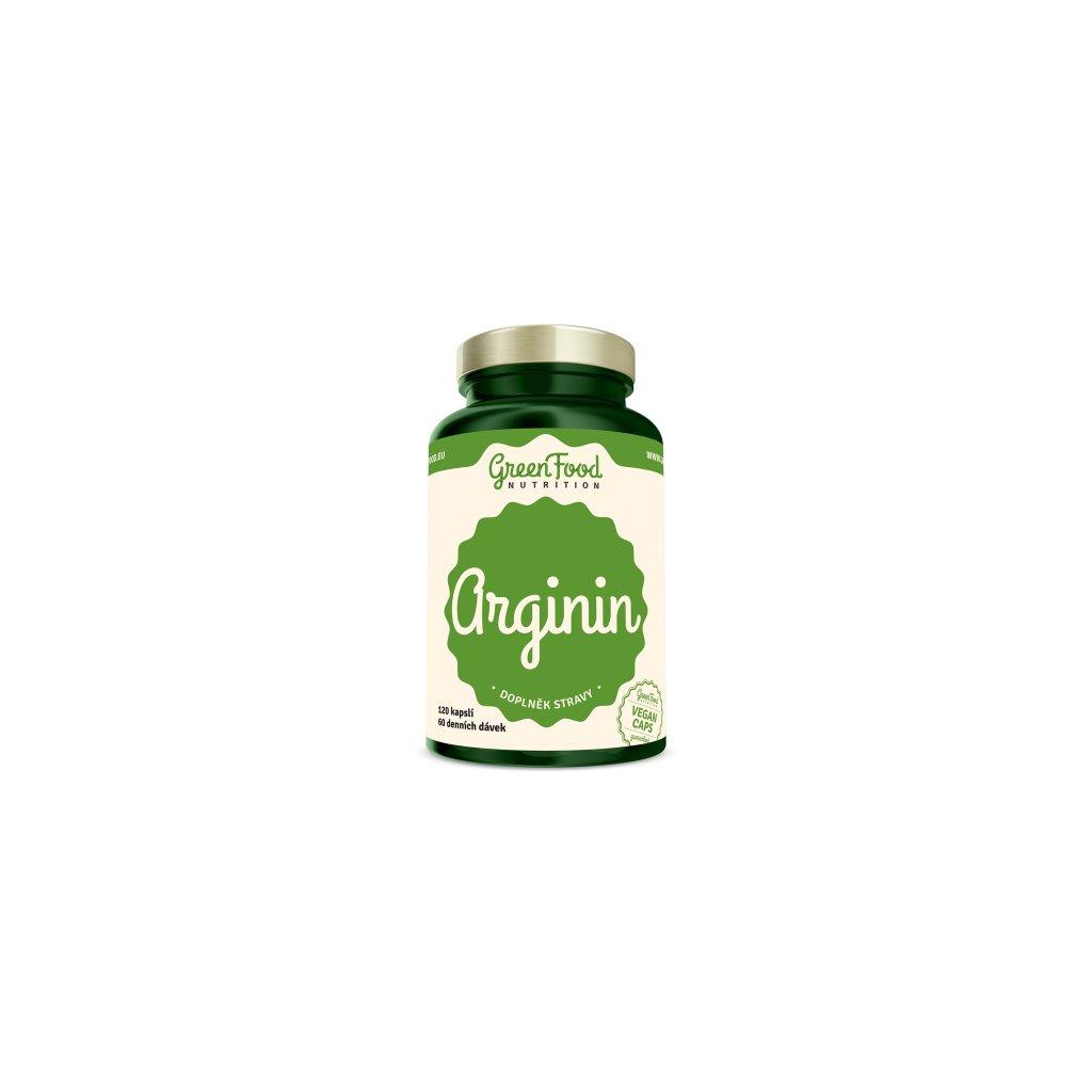 GreenFood Arginin 120 kapslí