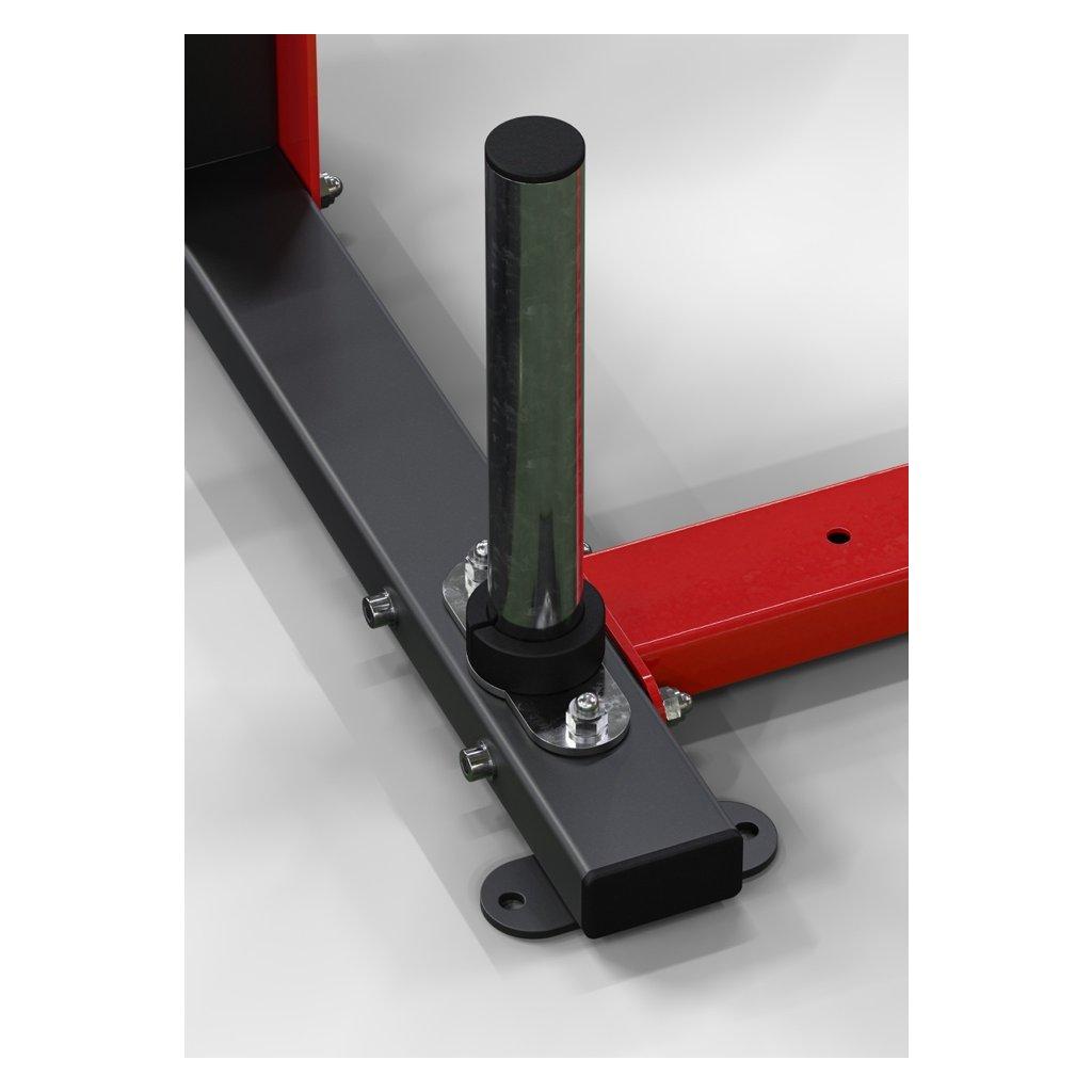 Přídavný držák závaží WOCLUB POWER PLATE HOLDER na sloupy pro kotouče s průměrem větším než 45 mm.