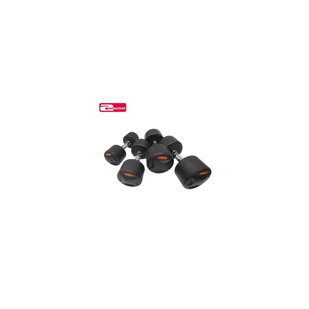 Jednoruční činky set ARSENAL Rubber premium 12,5-30 kg