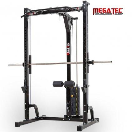 MegaTec; Multipress s horní kladkou a sloupcem závaží 115kg