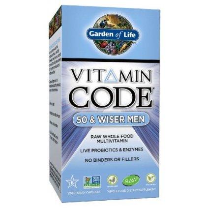 Garden of Life Vitamin Code 50 - pro muže po padesátce 120kapslí