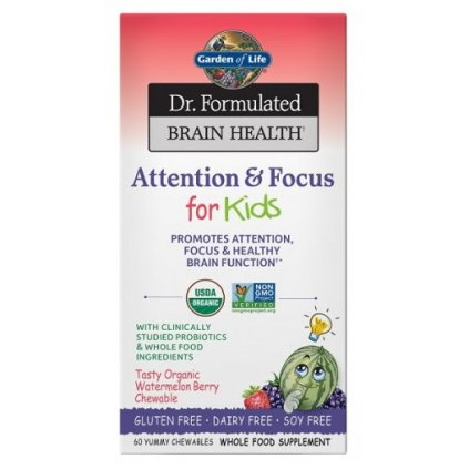 Garden of Life Dr. Formulated - pozornost a     soustředění - pro děti 60tablet