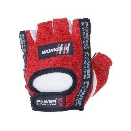 Power System fitness rukavice Workout červené